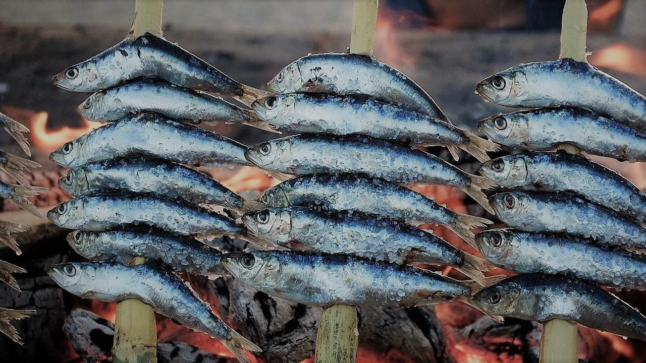 sardientjes op de grill